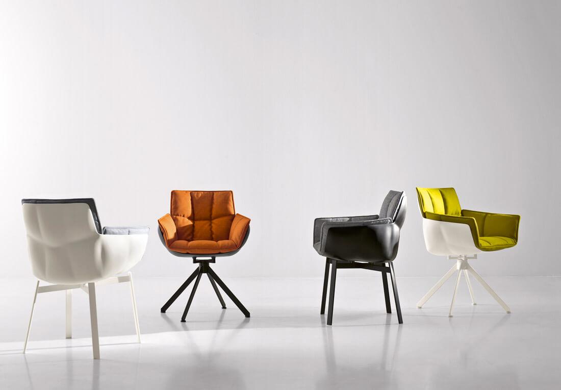 B & B Italia. Designed HUSK armchair that defines the minimalistic modern living.