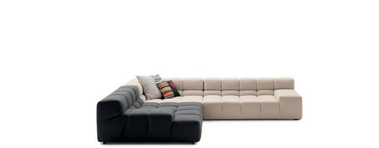 B & B Italia. Designed Tufty Sofa that reflects the contemporary and elegant living room design